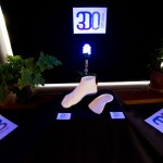 3DO printed foot and 3D Orthotics on display.